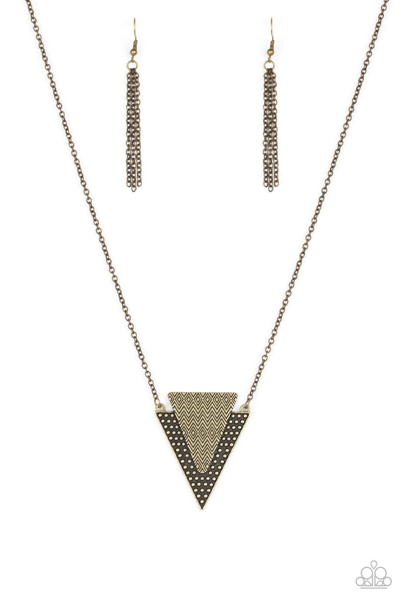 Ancient Arrow Brass Necklace