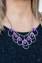 Load image into Gallery viewer, Tango Tempest Purple Necklace