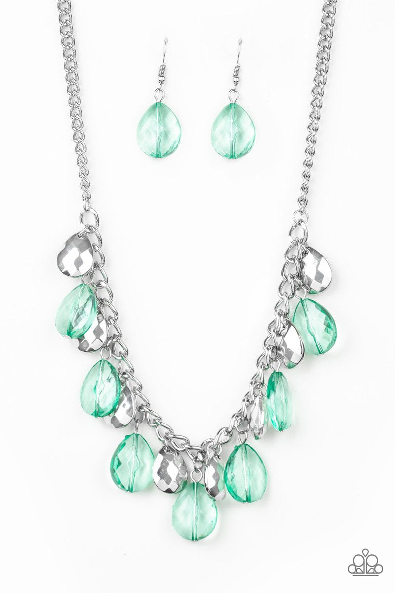No Tears Left To Cry Green Necklace
