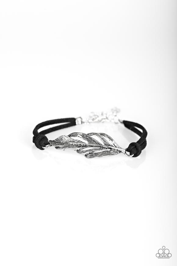 Faster Than Flight Black Bracelet