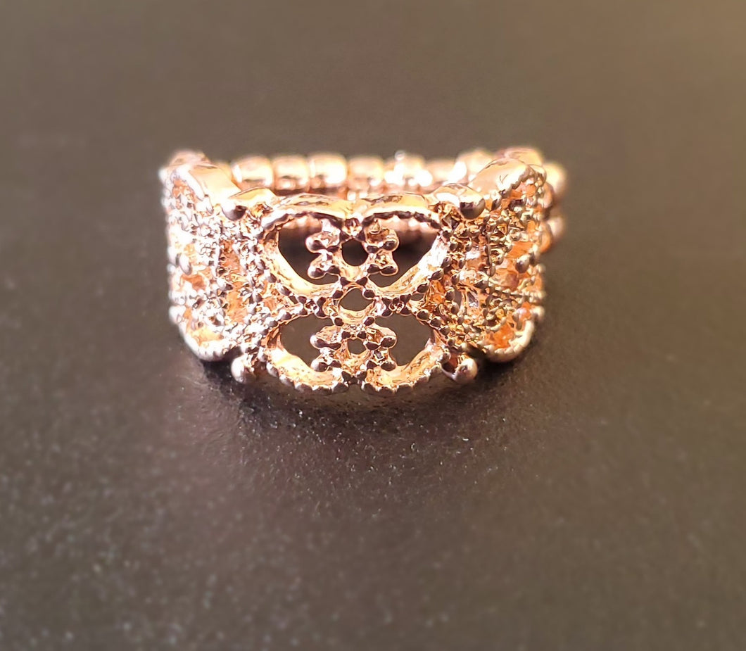 Tell Me How You Really Frill Rose Gold Ring