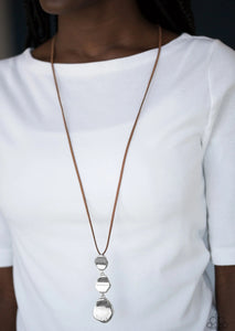 Embrace The Journey Brown Necklace