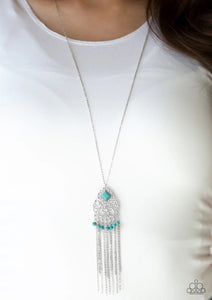 Whimsically Western Necklace Blue