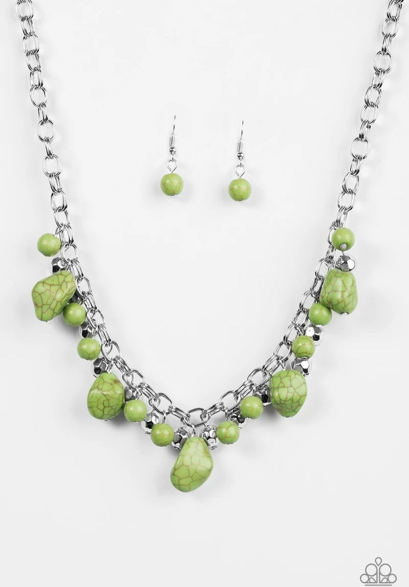 Paleo Princess Green Necklace