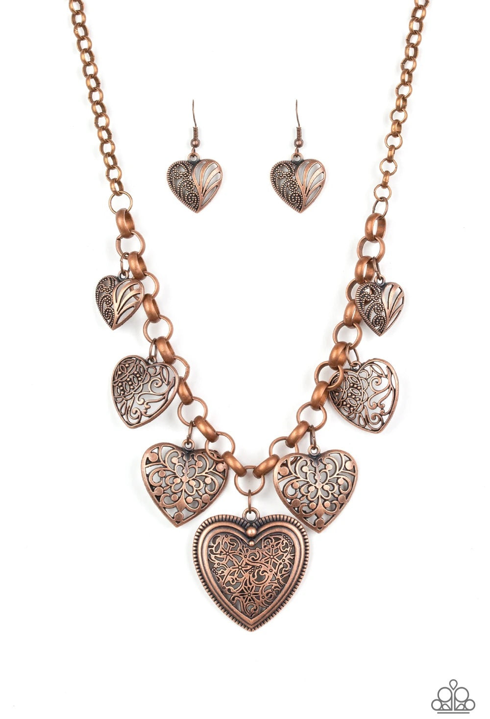 Love Lockets Copper Necklace