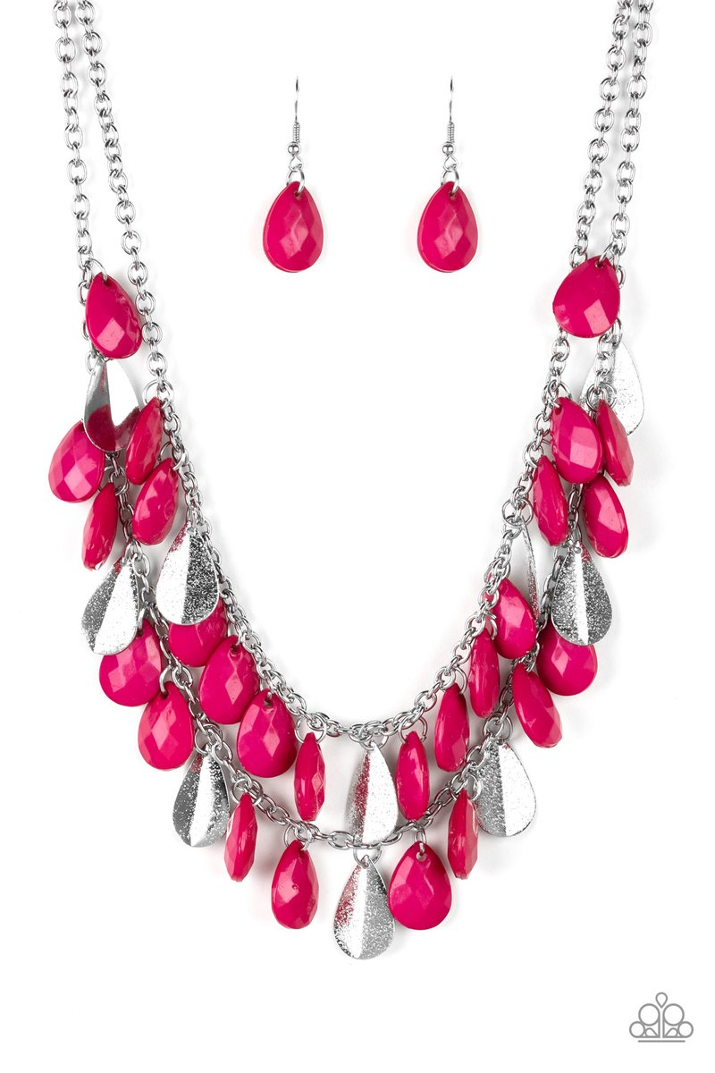 Life Of The Fiesta Necklace Pink