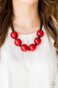 Oh My Miami Red Wooden Beads