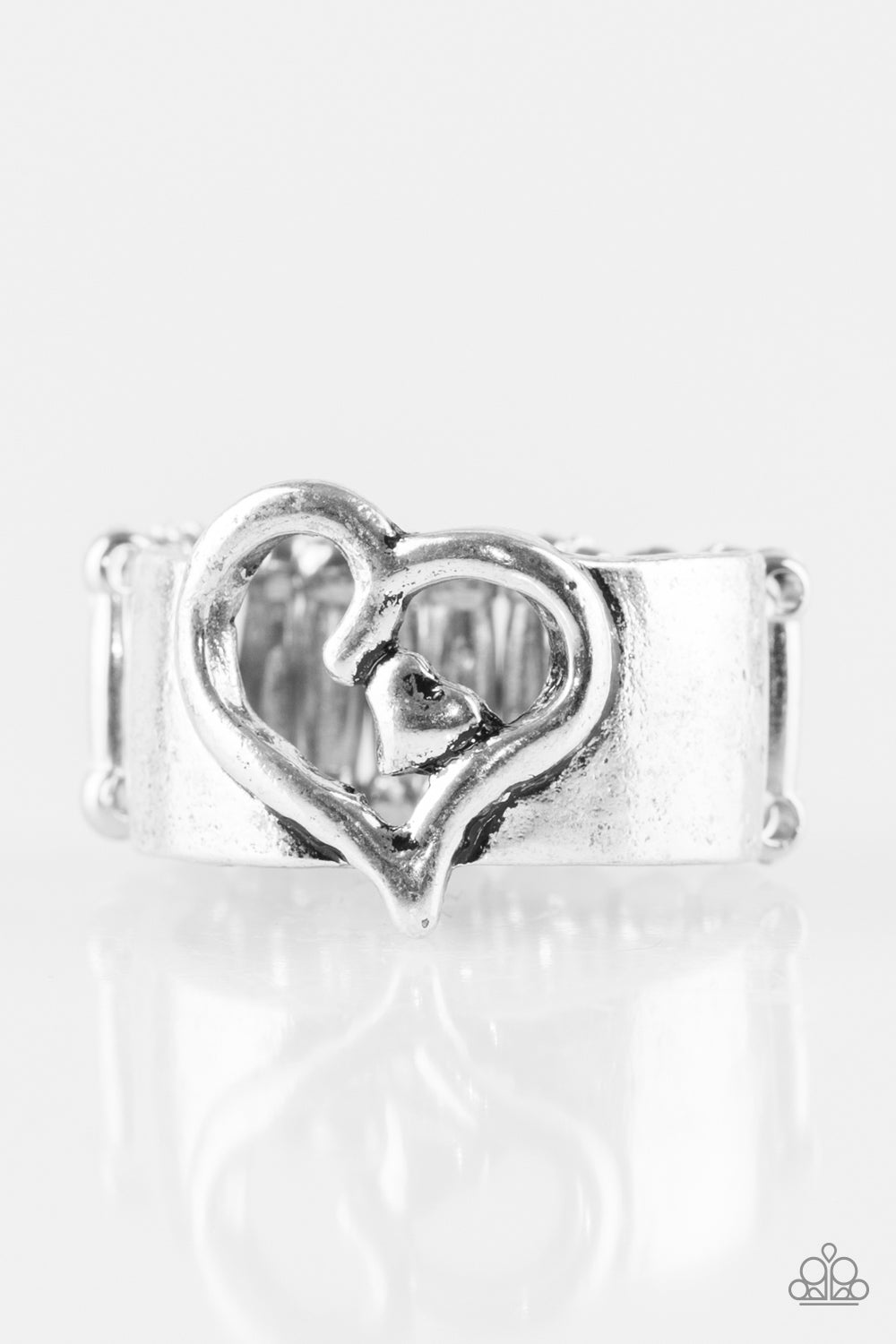 Cute As Cupid Silver Ring