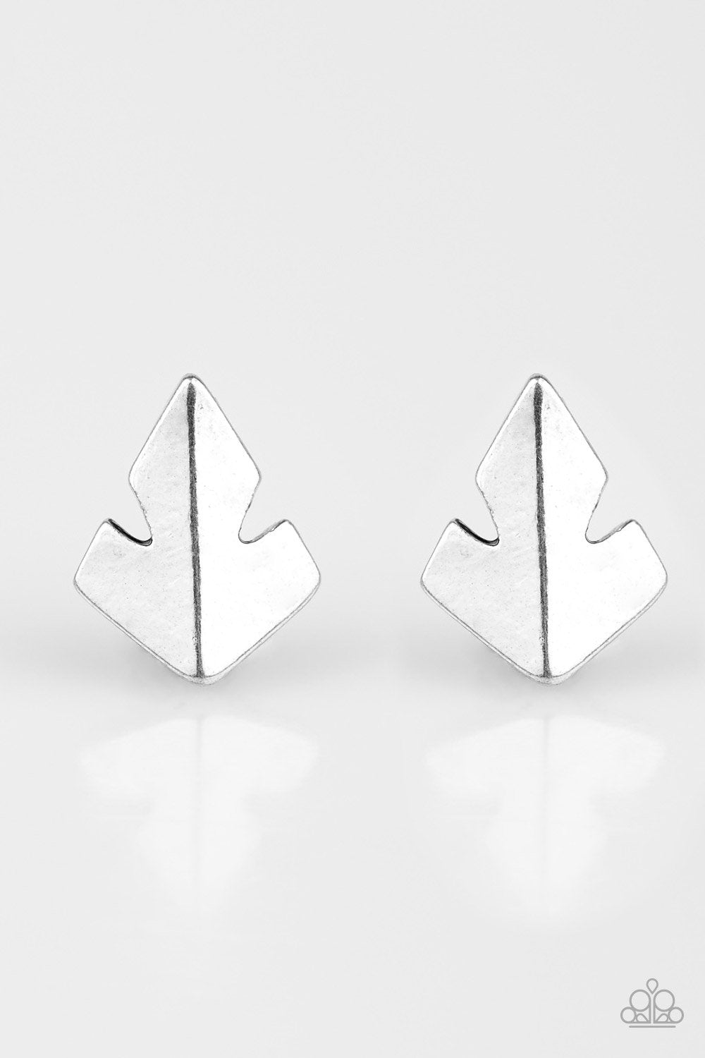 Fire Drill Post Earring Silver