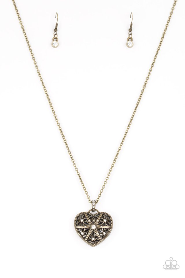 Casanova Charm Brass Necklace
