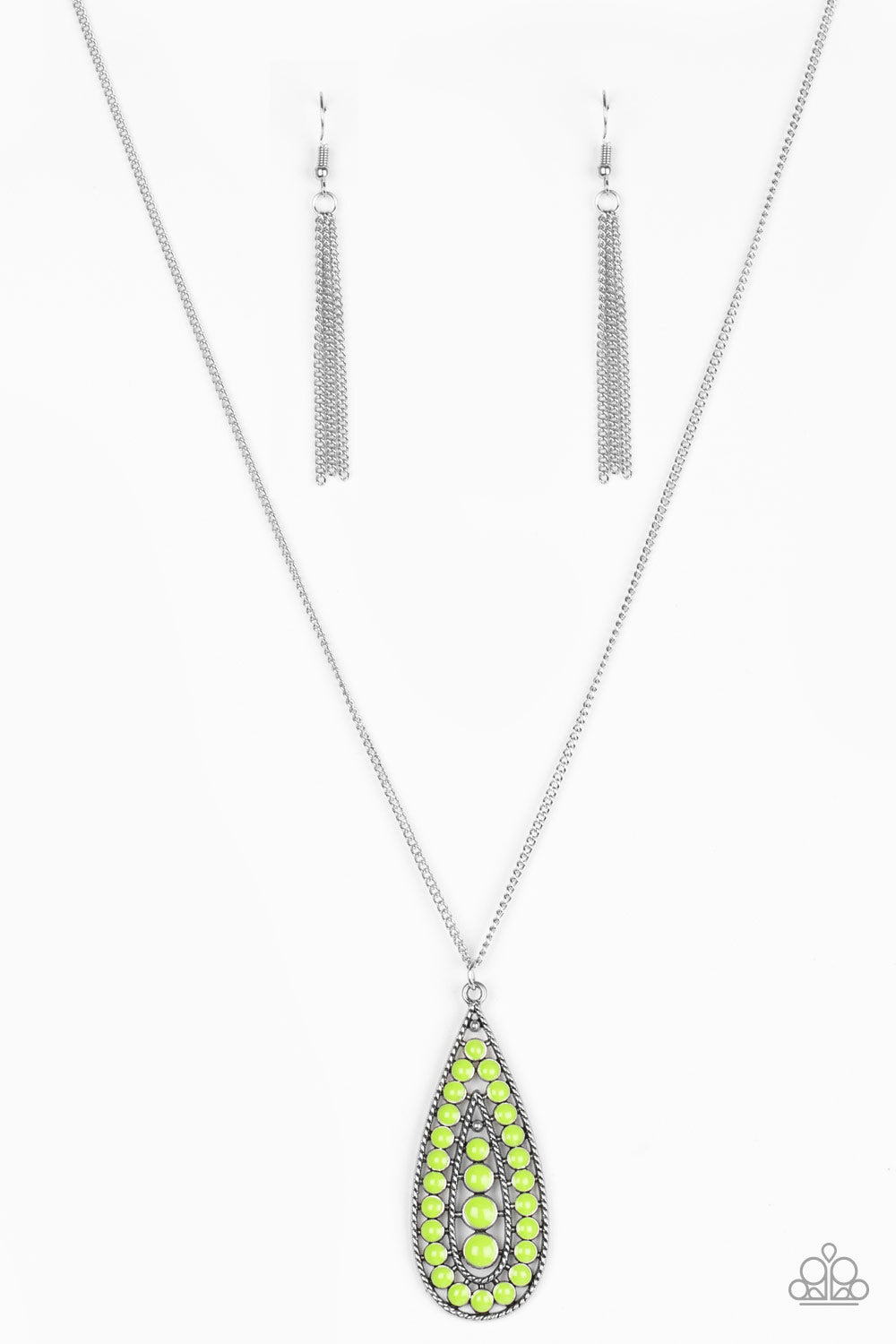 Tiki Tease Green Necklace