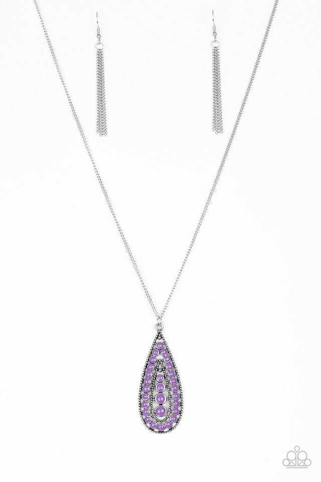 Tiki Tease Purple Necklace