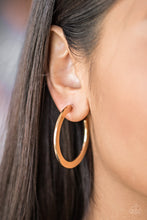 Load image into Gallery viewer, Be All Bright Gold Hoop Earring