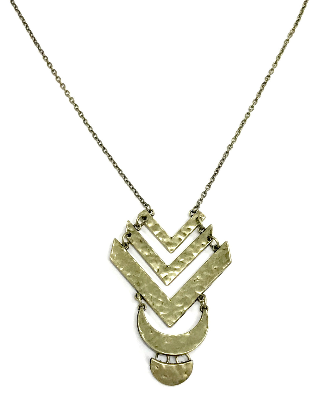 Artisan Edge Brass Necklace