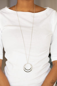 Front and Epicenter Necklace Black