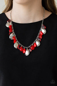 Hurricane Season Red Necklace