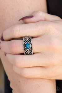 Cave  Babe Blue Ring