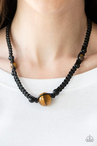 Earth Excursion Black Necklace