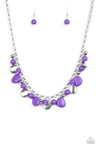 Flirtatiously Florida Purple Necklace