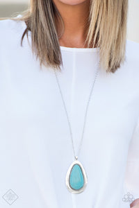Badland To The Bone Blue Necklace