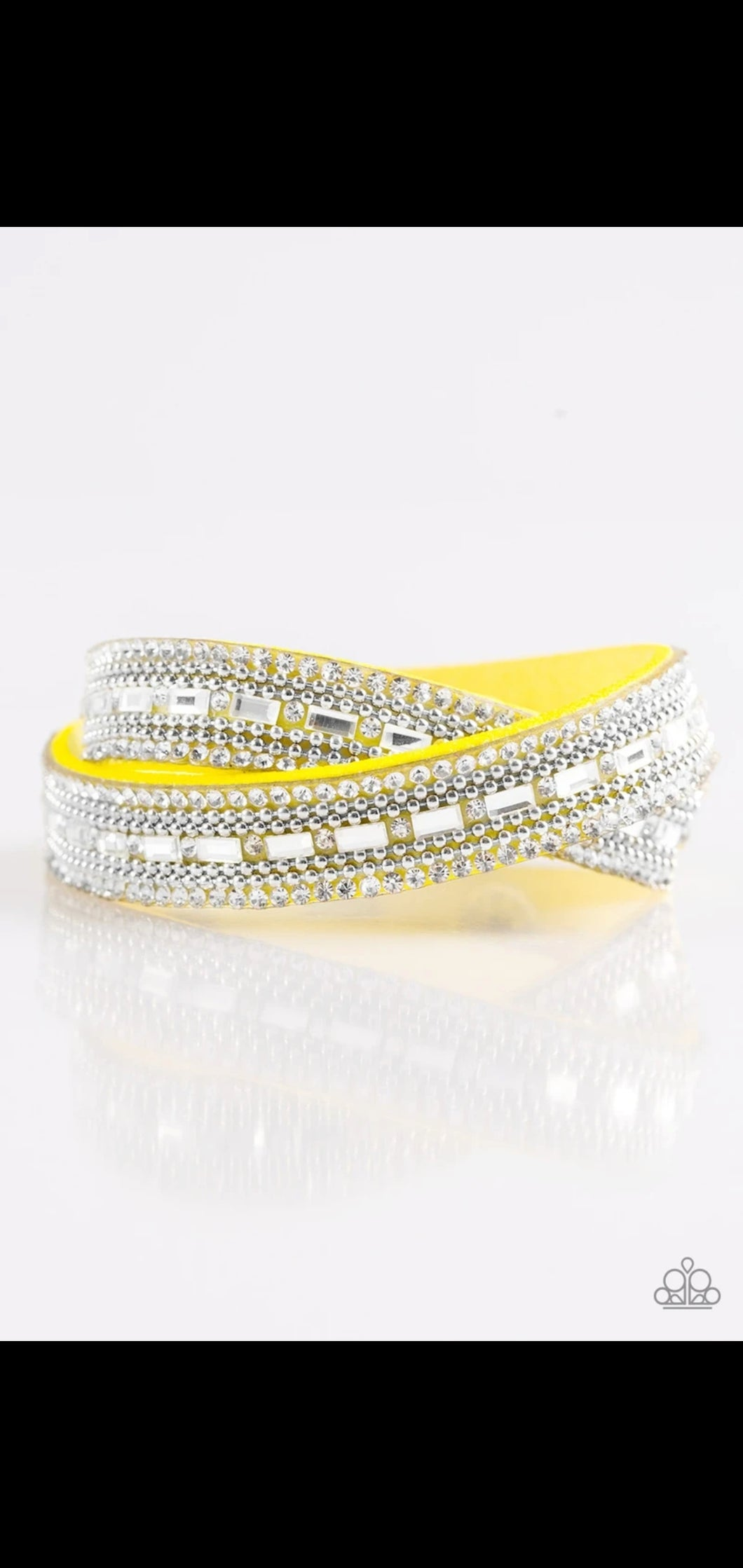 Shimmer and Sass Yellow Urban Bracelet