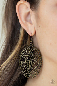 Way Out of Line Copper Earrings