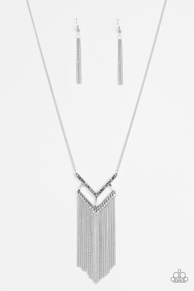 Alpha Glam Silver Necklace