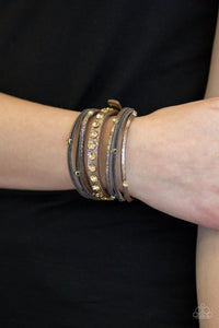 Catwalk It Off Brown Urban Bracelet