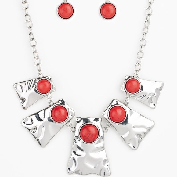 Silver Statement Red Stone