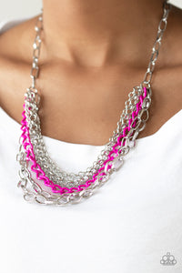 Color Bomb Necklace Pink