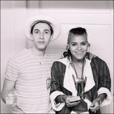 Steve with Annabella Lwin of Bow Wow Wow