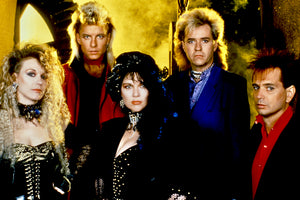 Heart photographed on the set of the Change of Heart video 1985