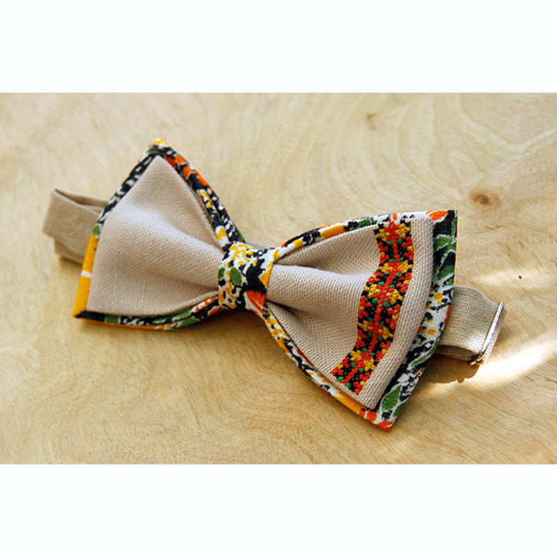 Armenian Embroidered Bow Tie - Multi-color