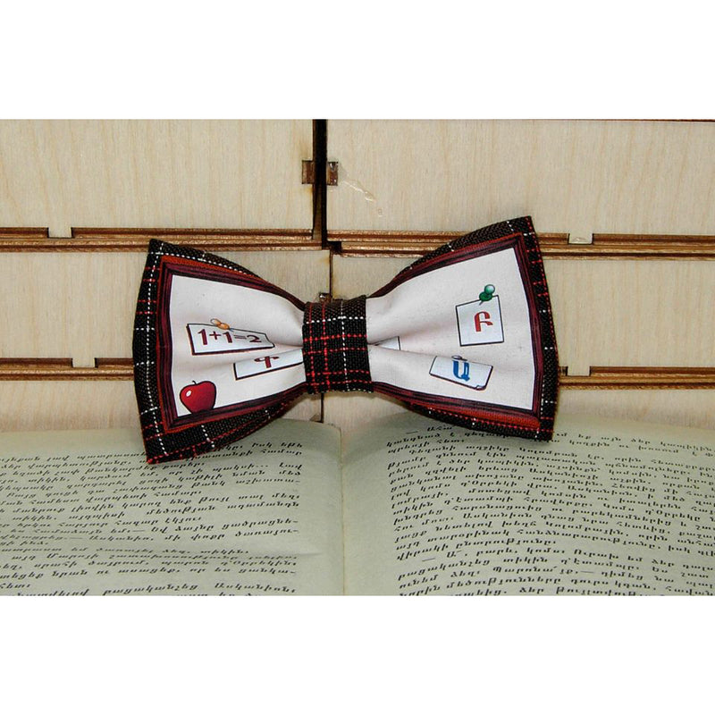 Letters and Numbers Bow Tie