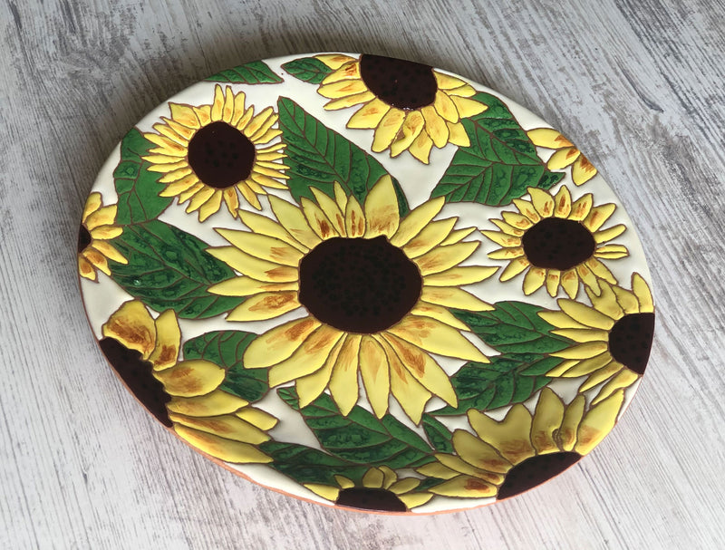 Ceramic Plate - Sunflowers
