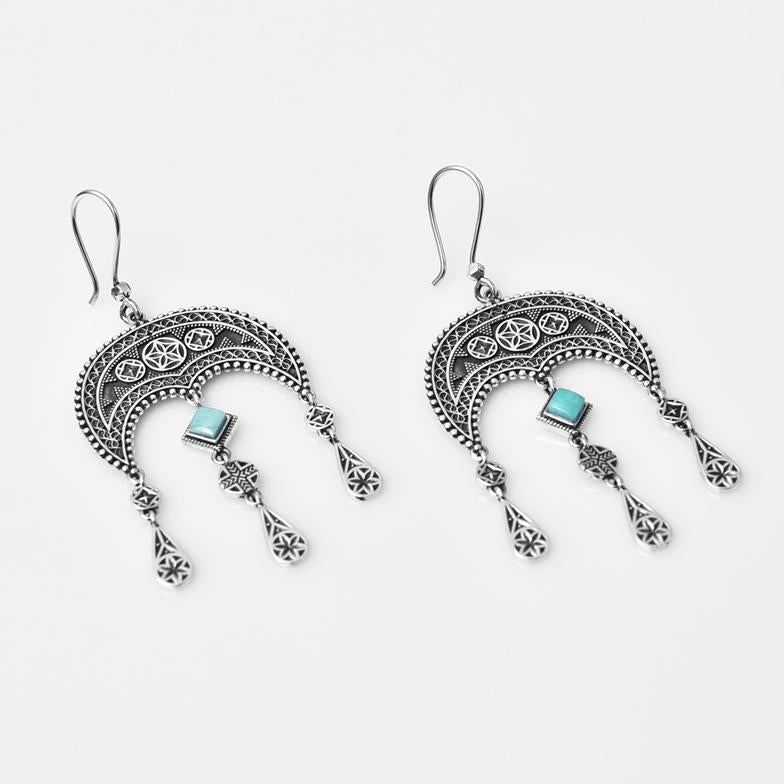 Daghdghan Earrings with Turquoise