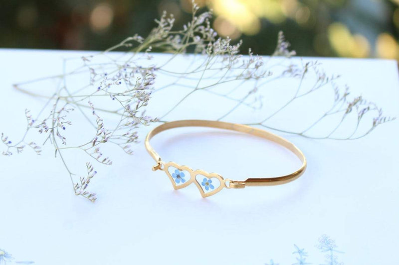 Pressed Flower Bracelet - Forget-Me-Not