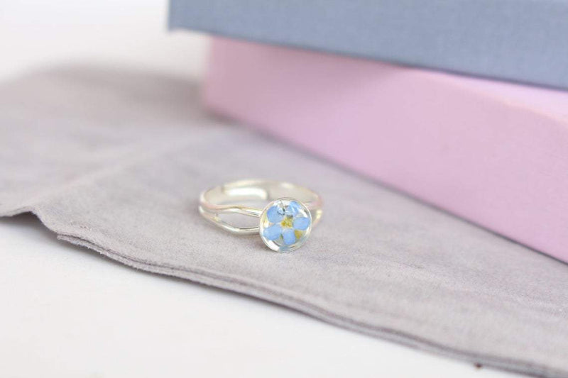 Pressed Flower Ring - Forget-Me-Not