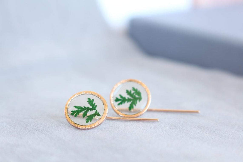 Real Fern Earrings