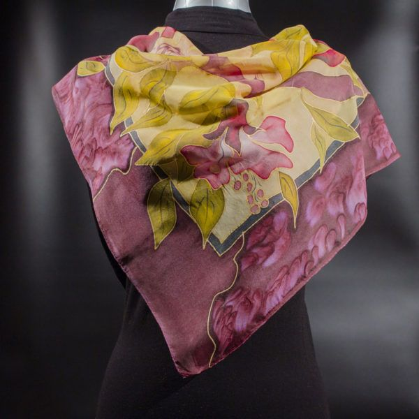 Juicy Pomegranate Silk Scarf