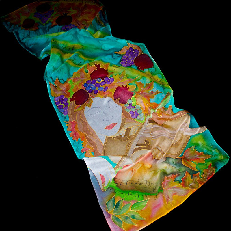 "Colorful Silk Scarf ""Spring"""