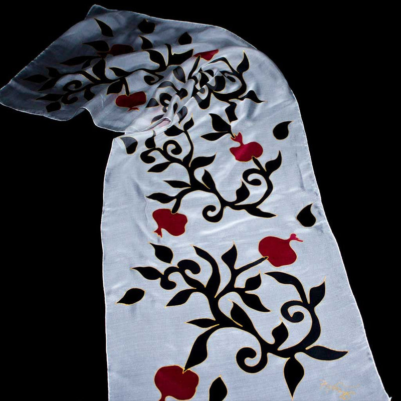 Scarf with Pomegranates