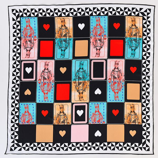 Queen of My Heart Scarf Black