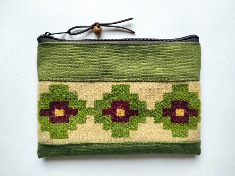 Handmade Cosmetic Bag with Ornaments