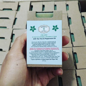 Organic Scalp Soothing Shampoo Bar 3.75 oz.