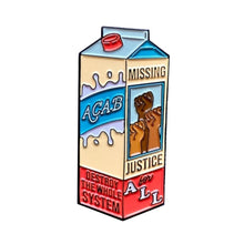 Load image into Gallery viewer, ACAB Milk Box Enamel Pin