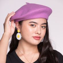 Load image into Gallery viewer, Lavender Wool Beret - $20