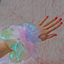 Load image into Gallery viewer, Oversized Iridescent Scrunchie