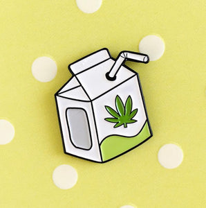 Hemp Milk Enamel Pin