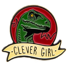 Load image into Gallery viewer, Clever Girl Enamel Pin